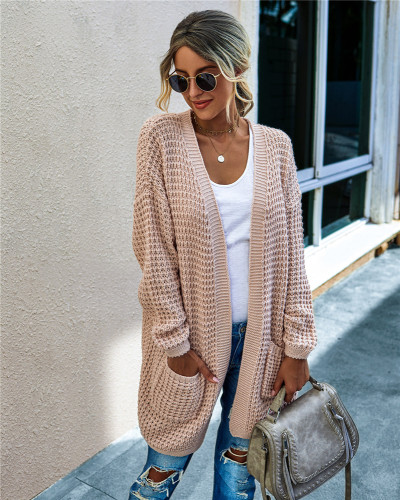 Pink Knit sweater long cardigan long coat