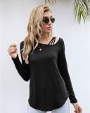 Black Off-the-shoulder T-shirt
