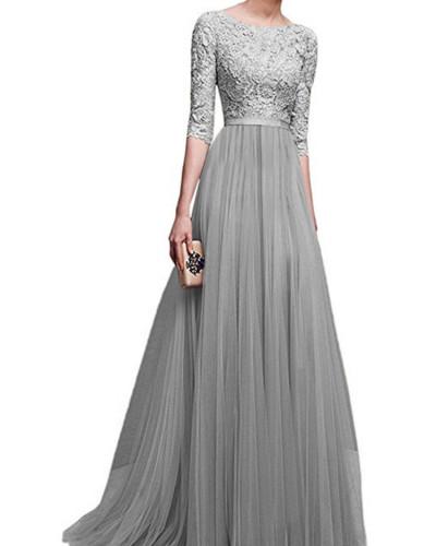 Gray Chiffon evening dress