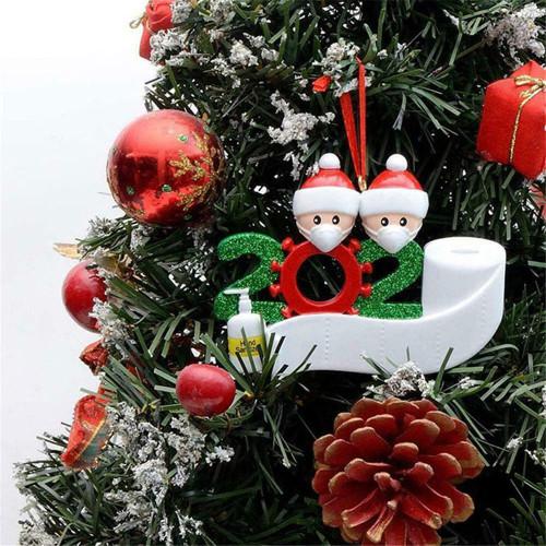 christmas ornament cute resin face mask snowman santa santa claus pendant