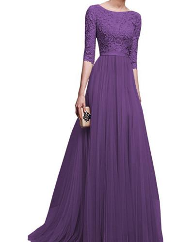 Purple Chiffon evening dress
