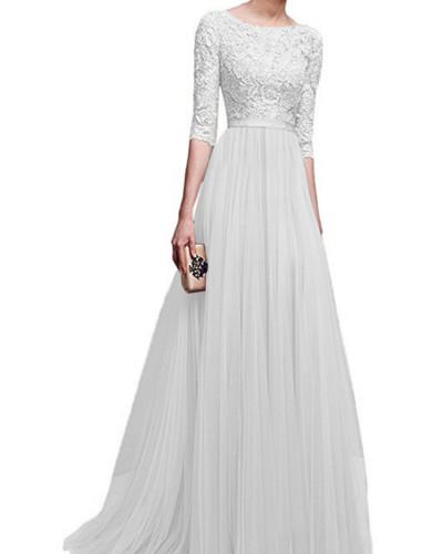 White Chiffon evening dress