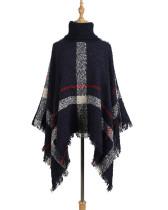 Red Cloak shawl loose plus size sweater