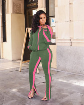 Off-the-shoulder sports two-piece fashion suit two-piece