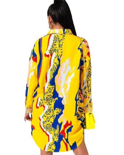 Printed shirt multicolor women's skirt