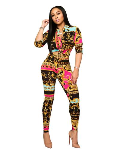 Digital printing suit two-piece suit
