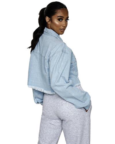 All-match short women's denim jacket top