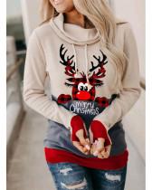 Long-sleeved sweater women's Halloween cartoon pattern contrast high-neck pullover ladies sweater