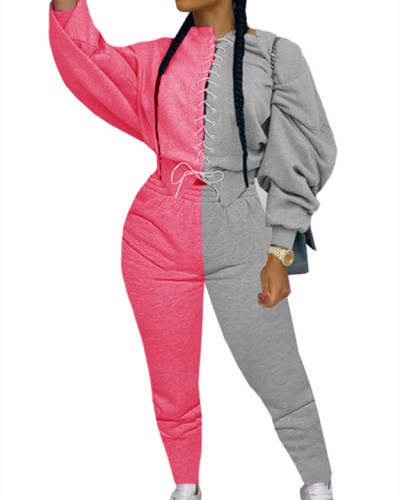 Pink Fashion color matching suit