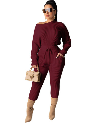 Red Long sleeve pit strip multicolor suit