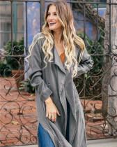 Casual gray windbreaker cotton long sleeve fashion suit