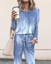 Loose solid color long sleeve casual suit