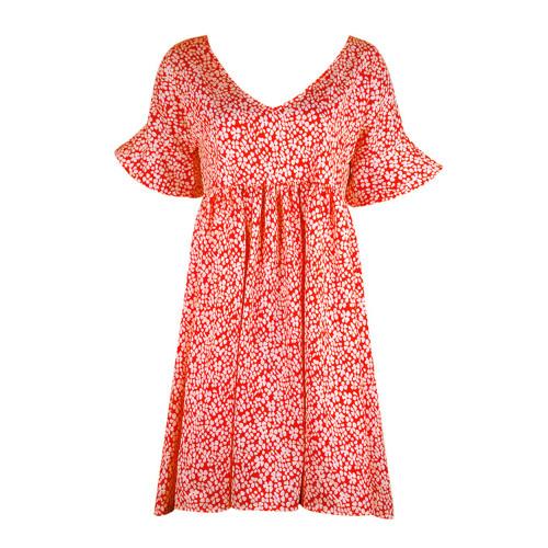 Claret Women's loose flared sleeve printed dress