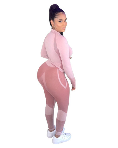 Pink Two-piece trousers sports suit