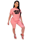 Pink Printed hedging fashion casual suit