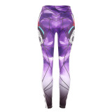 Violet Slim hip print yoga pants leggings pencil pants
