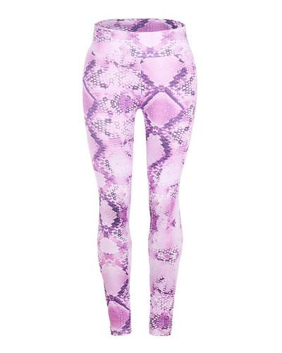 Violet Slim fit Snake Print Yoga Pants Leggings
