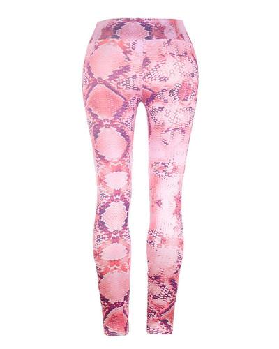 Red Slim fit Snake Print Yoga Pants Leggings