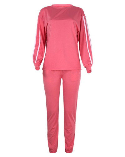 Pink Fashion loose long sleeve casual suit