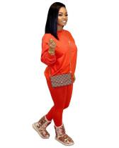 Orange Leisure two-piece suit