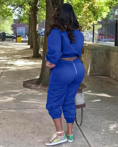 Bule New style personalized satchel zipper suit two-piece