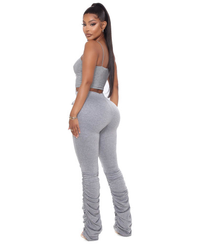 Gray Classic stacking stacking pants