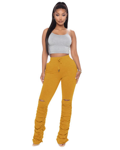 Yellow Classic stacking stacking pants