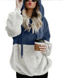 Copy Apricot Long-sleeved hooded solid color women's sweater sweater coat