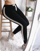 Black Sexy and comfortable feature stitching track pants