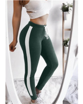 Green Sexy and comfortable feature stitching track pants