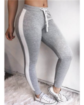 Gray Sexy and comfortable feature stitching track pants