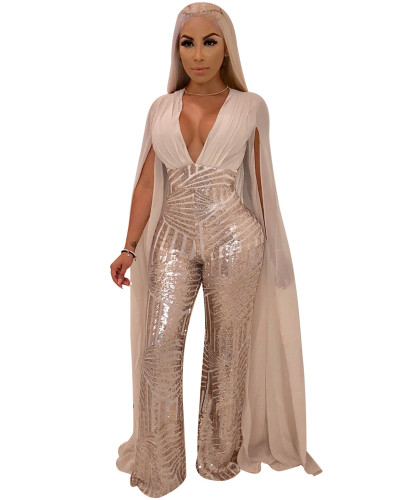 Apricot Sexy sequin evening dress fashion suit