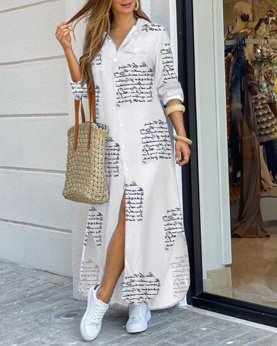White Fashion sexy shirt long skirt dress