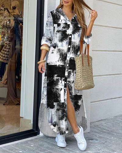 Fashion sexy shirt long skirt dress