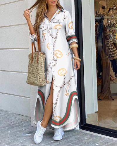White2 Fashion sexy shirt long skirt dress