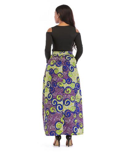 5 Printed skirt thick long sleeves