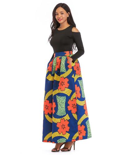 3 Printed skirt thick long sleeves