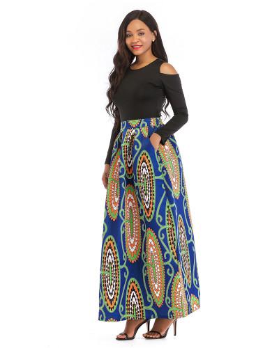 4 Printed skirt thick long sleeves