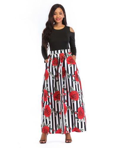 8 Printed skirt thick long sleeves