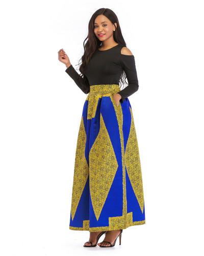 1 Printed skirt thick long sleeves