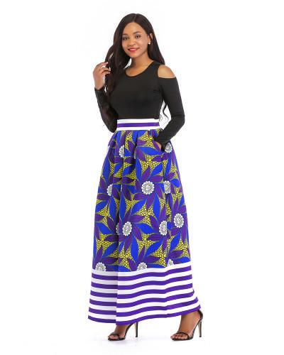 6 Printed skirt thick long sleeves