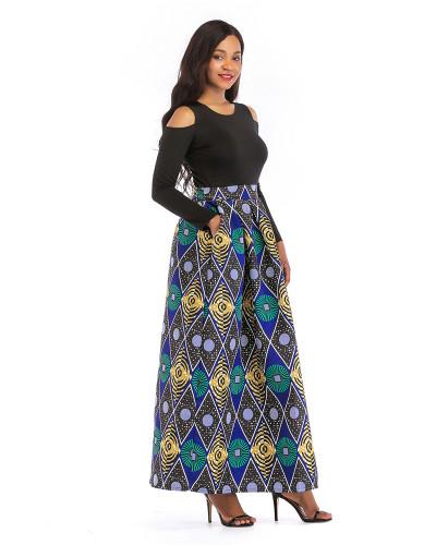 2 Printed skirt thick long sleeves
