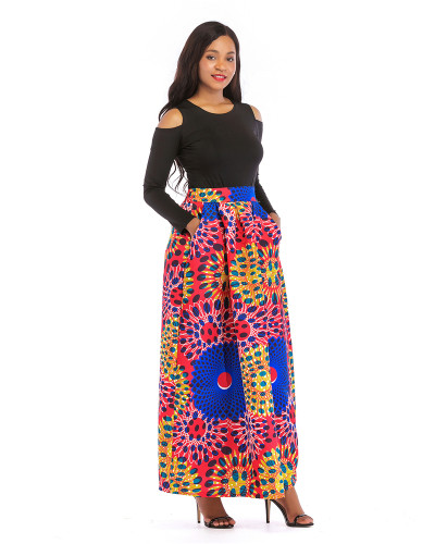 7 Printed skirt thick long sleeves
