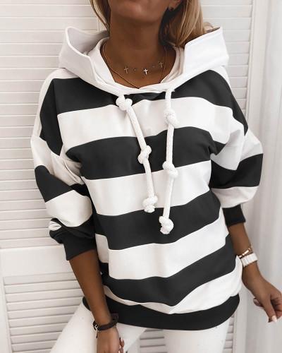 Black Rough stripes ladies thin sweater ladies tops