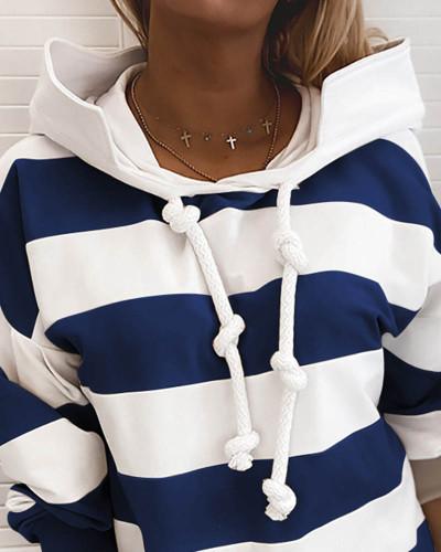 Dark bule Rough stripes ladies thin sweater ladies tops