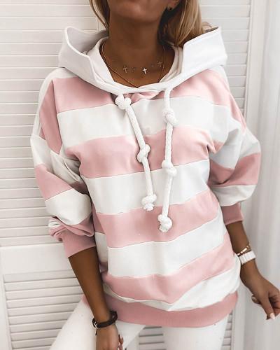 Pink Rough stripes ladies thin sweater ladies tops