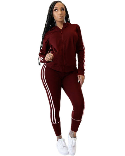 Red Casual women's suits