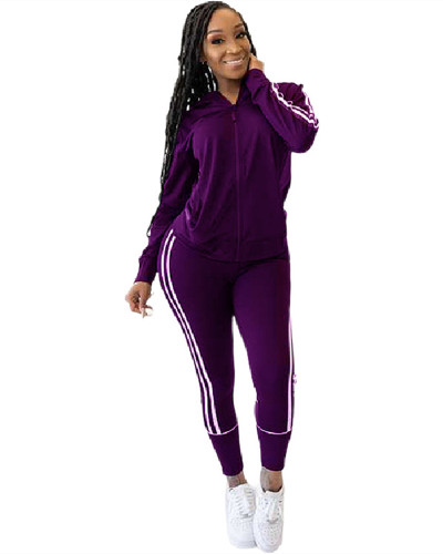 Purple Casual women's suits
