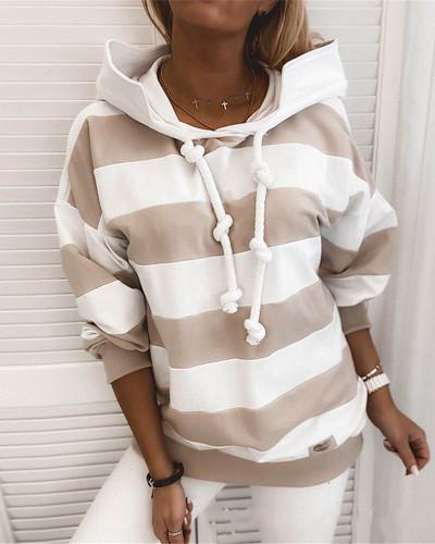 Khaki Rough stripes ladies thin sweater ladies tops