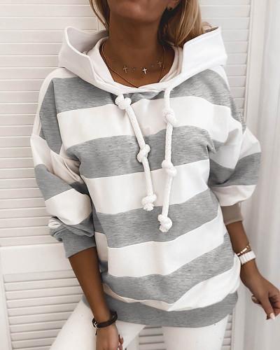 Gray Rough stripes ladies thin sweater ladies tops